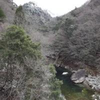 面河渓関門の様子(12月28日)