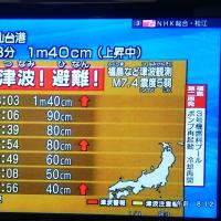 今年3回目の大地震が!