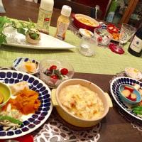 ペンネグラタンの夕ご飯…