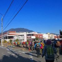 3 火山・丸山・大茶臼山(488・452・413m:安佐南区・西区)縦走登山  多数のキャラバンで