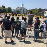 猛暑の運動会(^ν^)
