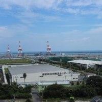 高台から眺めた御前崎港