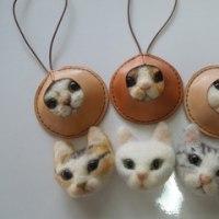 羊毛フェルトリアル猫