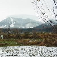 木島平も雪積る