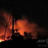 イスラエル軍機がシリア空軍基地にミサイル攻撃か、シリア軍発表(AFP)