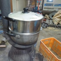 今日は31℃有りました。夏のドブロク造りを始めました。