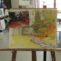水彩画教室でした