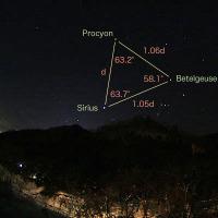 『天球の歩き方 計算編』#4 〜冬の大三角形は正三角形か〜