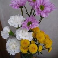 今日の仏花【カーネーション白】
