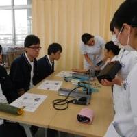 臨床工学技士科28期生と博多高校看護専攻科の合同実習