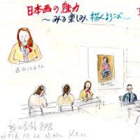 日本画家、森田りえ子さん大いに語るat朝日カルチャーセンター京都(スケッチ&コメント)