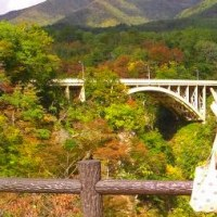 秋の休日 鳴子峡へ