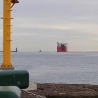 大型船の出港@播磨新島-65