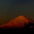 薄明の富士山