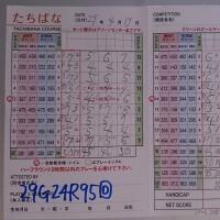 今日のゴルフ挑戦記(104)/新千葉CC「たちばな」イン→アウト(ベント)