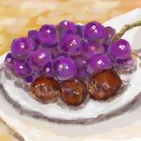 葡萄と栗 秋の味覚