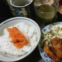 「今日のお昼ご飯」!!「コロッケ・一口トンカツ」!!