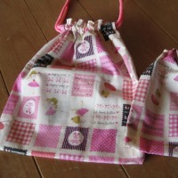 次女の入学準備 袋物