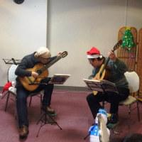 サンタクロースが二重奏のプレゼント