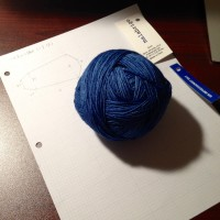 爪先から編む靴下 大 4足目 その1