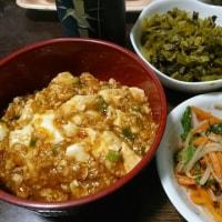 「今日のお昼ご飯」!!「麻婆豆腐丼」!!
