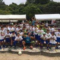 御立岬ビーチサッカーフェスティバル 地震からの復興を願って開催!