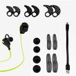 SoundPEATS(サウンドピーツ) ワイヤレス スポーツ ヘッドセット QY7 (ブラック/グリーン)
