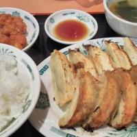日高屋 ダブル餃子定食 と 中華そば