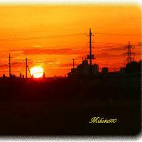 散歩と日の出
