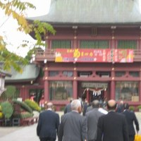 神社に研修旅行に行く