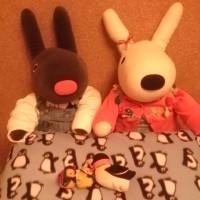 手作り☆ぺんぎんさんの枕カバー