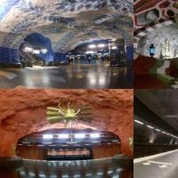 スウェーデンの地下鉄アート