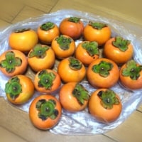 お饅頭と柿