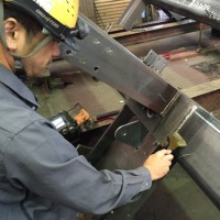 重量鉄骨鋼構造の超音波探傷試験