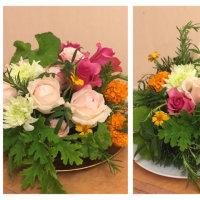 薔薇とハーブのアレンジ、静岡講師会。