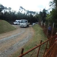 H地区ヘリパッド建設現場の状況と砂利置き場での抗議行動