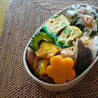 お弁当(かぼちゃ&ウインナー&ゴーヤのアジアン炒め)