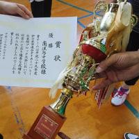 北東部地区育友会母親委員会ミニバレー大会。優勝しました!! おめでとうございます!
