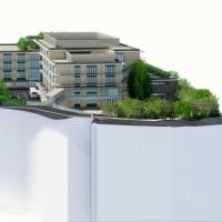 甲南病院が建て替え工事をスタートした。