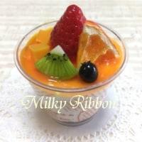 タミヤ プラモデルファクトリー 新橋店 オレンジのレアチーズカップ
