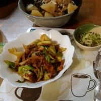 12月10日夕 四川式回鍋肉、ぶり大根