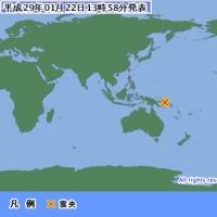 パプアニューギニア地震の詳細