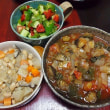 モロヘイヤとオクラのトマトJスープカレー味