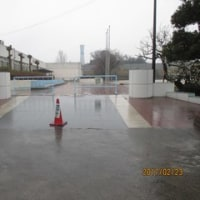 雨の日の登校 2月23日(木)