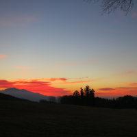 今朝の空と富士山と(2016.12.04)