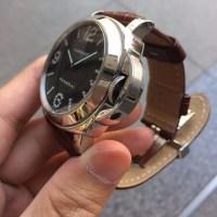 パネライ ルミノールベース ダイヤモンドコレクション 手巻き SS/革バンド PAM00130 のご紹介です。