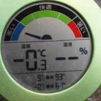 平成29年3月22日・今朝の東祖谷-0.3℃