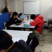 テスト勉強2日目 ・・・今日もU君、M君は時間前から勉強中~(^^♪