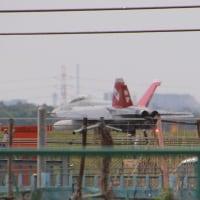 厚木基北側公園地航空機機撮影