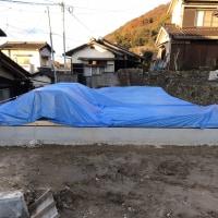 倉敷市呼松で土台据付工事